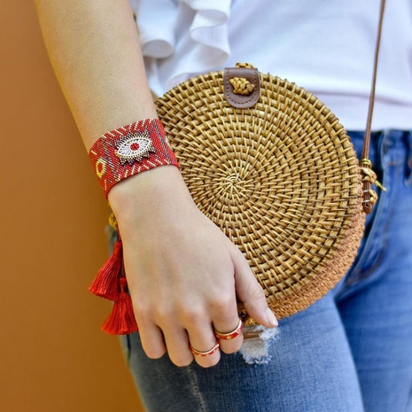 Nihaojewelry wholesale jewelry fashion Miyuki beads hand-woven wide bracelet  NHGW388796's discount tags