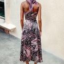 Womens summer sexy sling tube top floor slit suspender dress NHWA388816