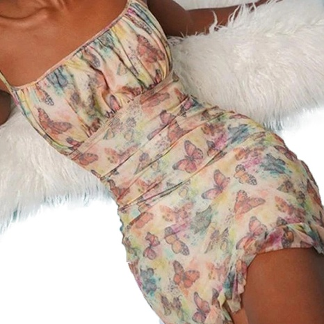 Robe à épaules dénudées à volants fleuris pour femmes en gros NHWA393525's discount tags