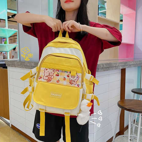wholesale candy color bear large capacity backpack Nihaojewelry NHTG388406's discount tags