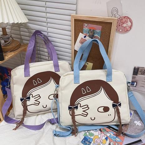 wholesale bolso de lona de mensajero de un solo hombro con estampado de niña linda Nihaojewelry NHTG388400's discount tags