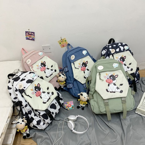 wholesale cartoon cow doll backpack Nihaojewelry NHTG388413's discount tags