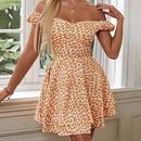 Wholesale Womens Summer ruffle printing short dress NHWA388825