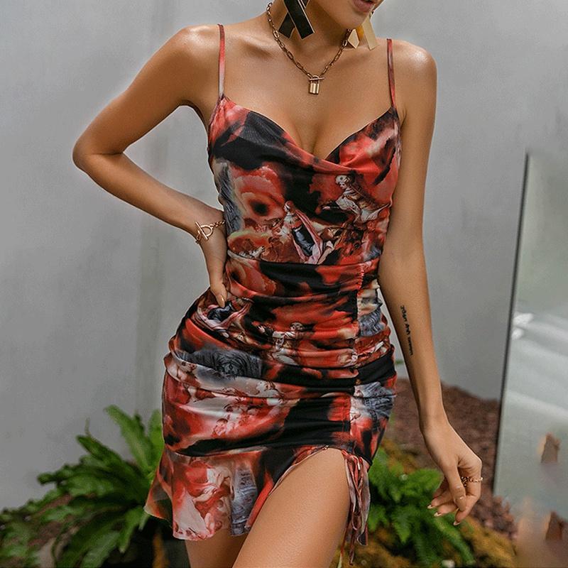 Wholesale Summer womens sling printing Suspender dress NHWA388823