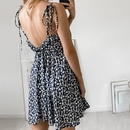 Wholesale Summer sling print roundneck short backless dress NHWA388827