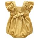 Wholesale baby suspenders clothes Soft linen cotton newborn Rompers NHWU388828