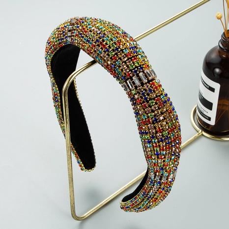 wholesale jewelry baroque flower-shaped diamond headband Nihaojewelry  NHLN388834's discount tags