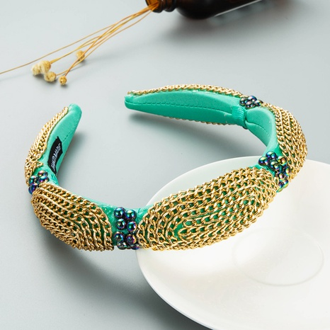wholesale jewelry baroque special-shaped chain decorated pearl headband Nihaojewelry  NHLN388835's discount tags