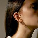 wholesale jewelry geometric irregular line copper ear bone clip Nihaojewelry NHGI388909