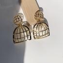 wholesale jewelry birdcage pearl pendant copper goldplated earrings nihaojewelry  NHGI388915