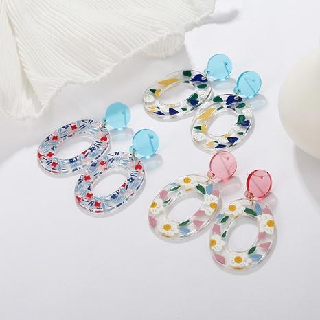 wholesale jewelry flower polka dot acrylic earrings nihaojewelry  NHAYN389008's discount tags