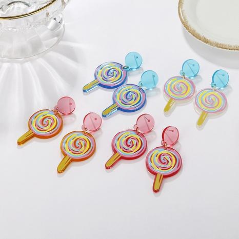 wholesale pendientes de piruleta de dibujos animados de color de joyería nihaojewelry NHAYN389012's discount tags