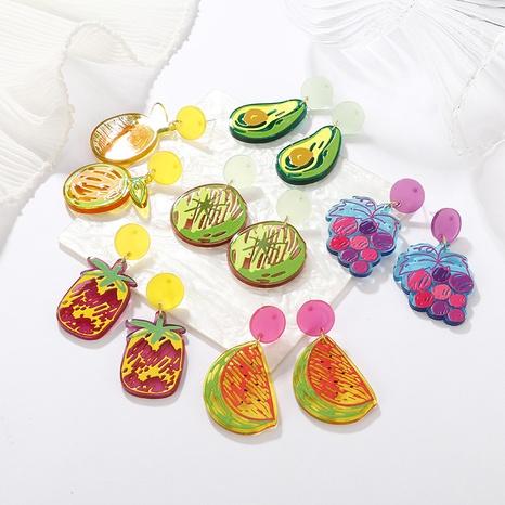 Al por mayor joyas pendientes con estampado de frutas nihaojewelry NHAYN389014's discount tags