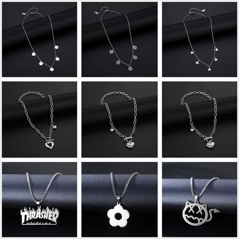 collier de mode géométrique en acier inoxydable bijoux en gros Nihaojewelry NHAC389106's discount tags