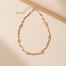 wholesale jewelry ethnic style rice bead color flower necklace Nihaojewelry NHPJ389339