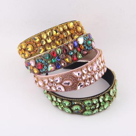 wholesale Baroque full diamond broad-sided headband Nihaojewelry NHWJ389701's discount tags