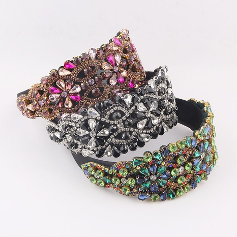 wholesale jewelry baroque full color diamond headband Nihaojewelry NHWJ389706's discount tags