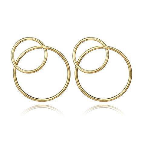 wholesale jewelry geometric circle earrings nihaojewelry  NHGY391688's discount tags