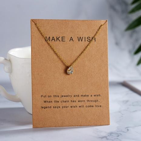 tarjeta de papel diamante collar colgante en forma de gota joyería al por mayor Nihaojewelry NHQIY389717's discount tags