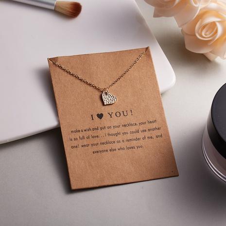 Forma de corazón arco aleación tarjeta de papel collar simple joyería al por mayor Nihaojewelry NHQIY389716's discount tags