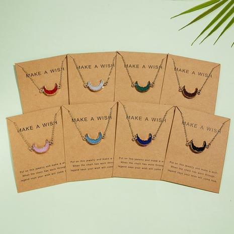bisutería mayoreo luna imitación piedra natural colgante ovalado collar nihaojewelry NHQIY389726's discount tags