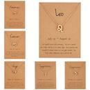 wholesale jewelry twelve constellation symbol inlaid rhinestone necklace nihaojewelry  NHQIY389725