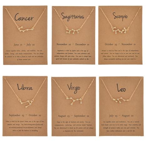Al por mayor joyas doce constelaciones collar de diamantes de imitación con incrustaciones nihaojewelry NHQIY389721's discount tags