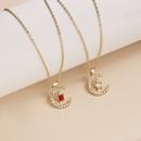 Wholesale Jewelry Birthstone Month Star Pendant Necklace Nihaojewelry NHQIY389724