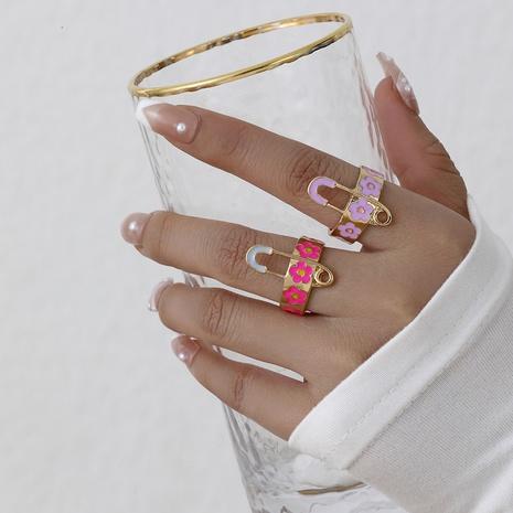 pin retro goteando aceite flor anillo al por mayor joyería Nihaojewelry NHYIA389730's discount tags