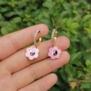 wholesale jewelry heart flower Tai Chi oil dripping earrings nihaojewelry  NHYIA389729