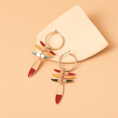 Al por mayor joyería geometría esquinas afiladas pendientes de color nihaojewelry NHYIA389737's discount tags