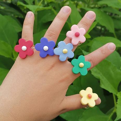resina color a juego flor simple anillo al por mayor joyería Nihaojewelry NHYIA389739's discount tags
