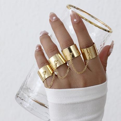anillo de apertura de una sola pieza de metal simple joyería al por mayor Nihaojewelry NHYIA389741's discount tags