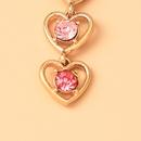 wholesale jewelry multicolor hollow heartshaped diamond pendant earrings nihaojewelry  NHYIA389743
