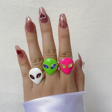 Ojo alienígena gota aceite anillo de moda joyería al por mayor Nihaojewelry NHYIA389745's discount tags