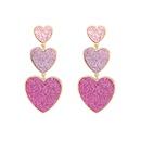 wholesale jewelry heart splicing pendant earrings nihaojewelry  NHYIA389744