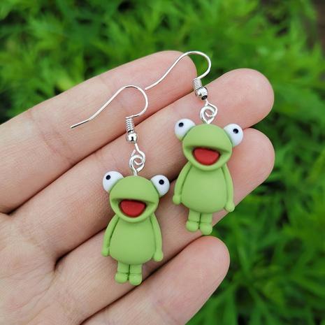 Al por mayor joyas pendientes en forma de rana nihaojewelry NHYIA389752's discount tags