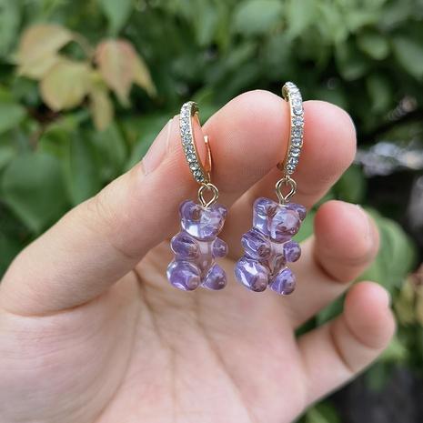Al por mayor joyería color caramelo oso gomoso pendientes colgantes nihaojewelry NHYIA389753's discount tags