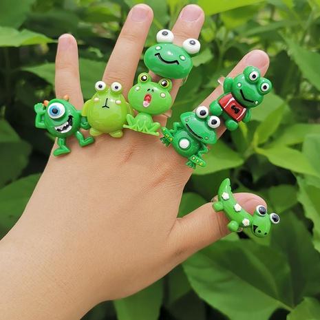Al por mayor anillo de rana de resina de dibujos animados de joyería Nihaojewelry NHYIA389755's discount tags