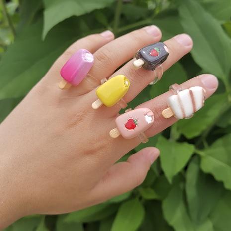 Al por mayor anillo de helado irregular de dibujos animados de joyería Nihaojewelry NHYIA389756's discount tags