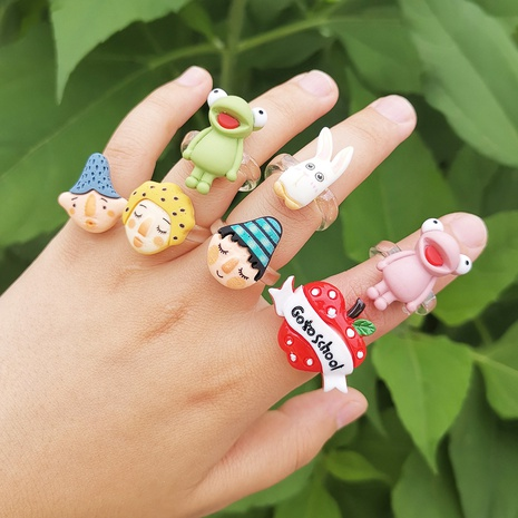 Al por mayor anillo de animal de rana de dibujos animados de joyería Nihaojewelry NHYIA389758's discount tags