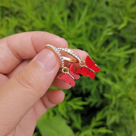 Al por mayor joyas pendientes de cobre mariposa Nihaojewelry NHYIA389759's discount tags