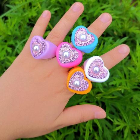 Al por mayor joyería anillo de perlas en forma de corazón Nihaojewelry NHYIA389762's discount tags