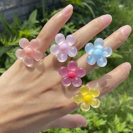 Al por mayor joyería flor de acrílico anillo tridimensional Nihaojewelry NHYIA389764's discount tags
