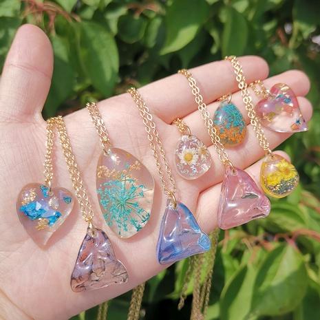 Colgante geométrico collar de moda de resina joyería al por mayor Nihaojewelry NHYIA389766's discount tags