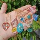 geometric pendant resin fashion necklace wholesale jewelry Nihaojewelry NHYIA389766