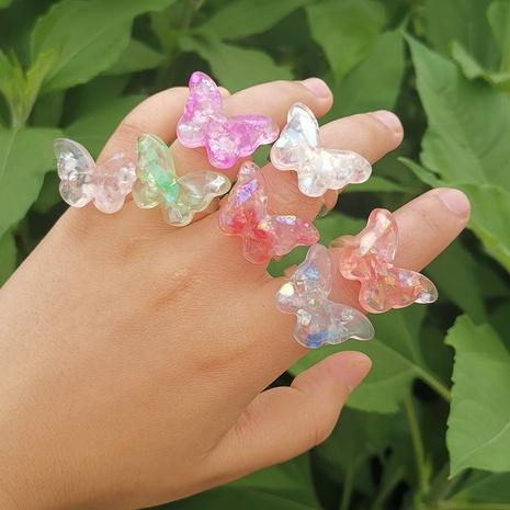 Al por mayor joyería colorida anillo de resina de mariposa Nihaojewelry NHYIA389770's discount tags
