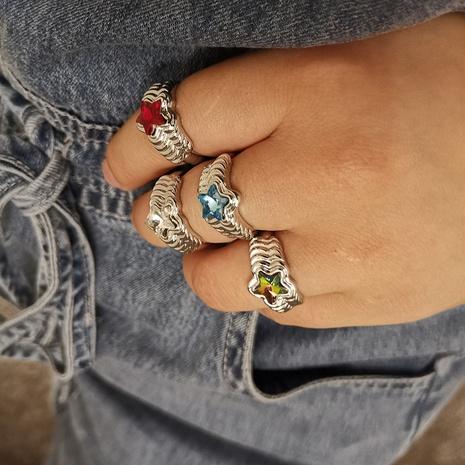 Al por mayor joyería simple forma de estrella geométrica anillo corrugado Nihaojewelry NHYIA389772's discount tags