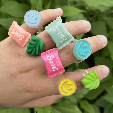 Al por mayor joyería de forma de caramelo anillo de color macaron Nihaojewelry NHYIA389774's discount tags