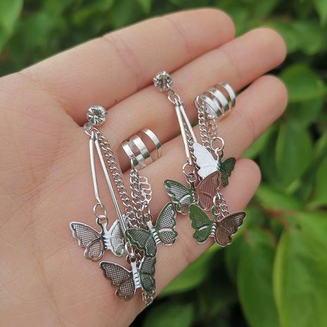 Joyería al por mayor pendientes de borla de diamantes de mariposa de metal retro Nihaojewelry NHYIA389777's discount tags